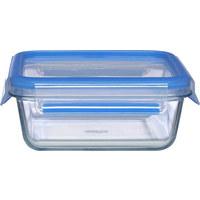 FRISCHHALTEDOSE 0,9 L  - Blau/Transparent, Basics, Glas/Kunststoff (18/18/7cm) - Emsa