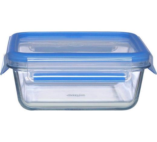 FRISCHHALTEDOSE 0,9 L - Blau/Transparent, KONVENTIONELL, Glas/Kunststoff (18/18/7cm) - Emsa