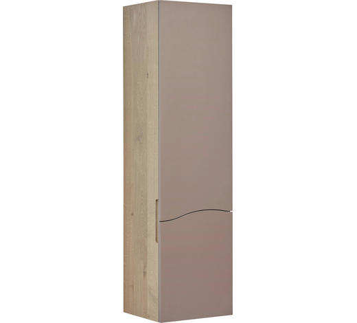 MIDISCHRANK 40/147/34,5 cm - Taupe/Eichefarben, Design, Holz (40/147/34,5cm)