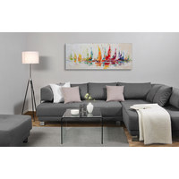 SLIKA - višebojno, Basics, drvo/tekstil (180/70cm) - Monee