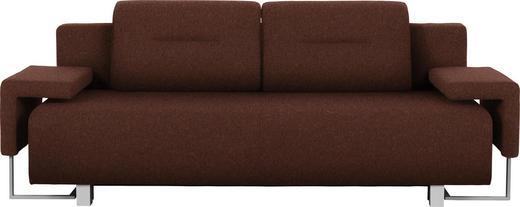 SCHLAFSOFA in Textil Braun - Alufarben/Braun, Design, Kunststoff/Textil (222/84/93cm) - Carryhome