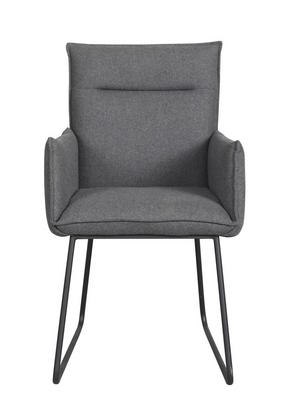 STOL - mörkgrå/svart, Modern, metall/textil (54/88/64cm) - Rowico