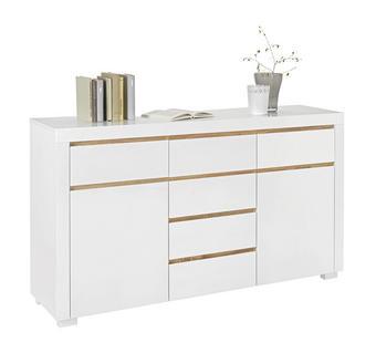 KOMODA - bílá/barvy dubu, Design, dřevěný materiál (155/88/38cm) - Xora