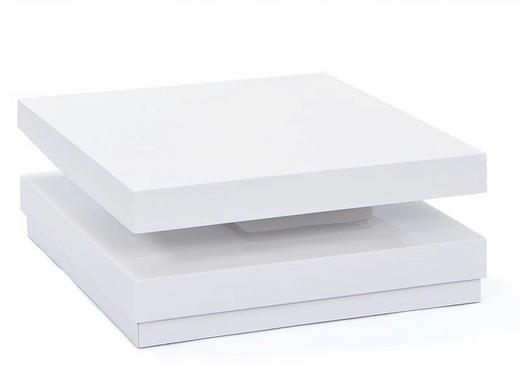 COUCHTISCH Weiß - Chromfarben/Weiß, Design (75/75/30cm) - Carryhome