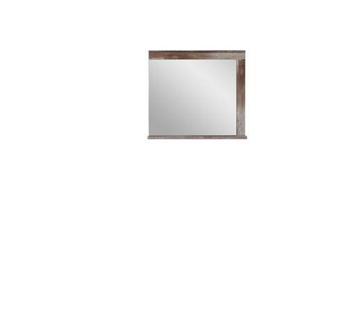 SPIEGEL 77/70/12 cm - Naturfarben, LIFESTYLE, Glas/Holzwerkstoff (77/70/12cm) - Hom`in