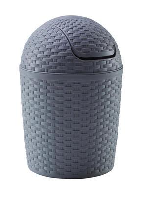 PAPPERSKORG MED VIPPLOCK - grå, Basics, plast (5,0l)
