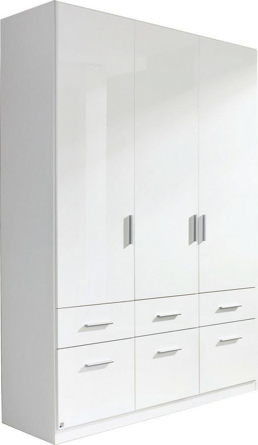 DREHTÜRENSCHRANK 3-türig Weiß - Alufarben/Weiß, Design, Holzwerkstoff/Kunststoff (136/210/54cm) - Carryhome