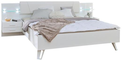 BETTANLAGE in Weiß - Weiß, Design, Holzwerkstoff/Textil (180/200cm) - Voleo