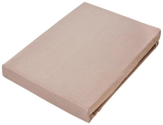 JERSEY-SPANNBETTTUCH Jersey Braun bügelfrei - Braun, Basics, Textil (150/200cm) - Novel