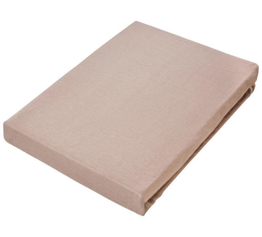 JERSEY-SPANNBETTTUCH Jersey Braun bügelfrei  - Braun, Basics, Textil (120/200cm) - Novel