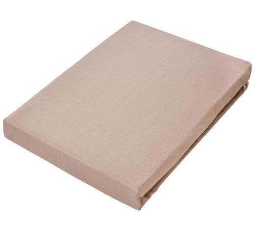 SPANNBETTTUCH Jersey Braun bügelfrei  - Braun, Basics, Textil (180/200cm) - Novel