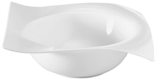 SALATSCHÜSSEL Porzellan - Weiß, Basics (23,8/23,8cm) - NOVEL