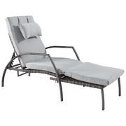 LEŽALJKA VRTNA - siva/svijetlo siva, Design, metal/tekstil (186/64/56cm) - Ambia Garden