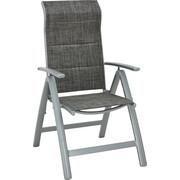 ZAHRADNÍ SKLÁPĚCÍ ŽIDLE - šedá/barvy stříbra, Konvenční, kov/textilie (58/110/68cm) - Ambia Garden