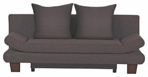SCHLAFSOFA Braun, Grau - Braun/Grau, KONVENTIONELL, Holz/Textil (194/73/91cm) - Venda