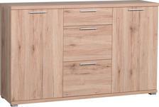 SIDEBOARD 144/88/40 cm  - Eichefarben/Anthrazit, Design, Holzwerkstoff/Kunststoff (144/88/40cm) - Carryhome