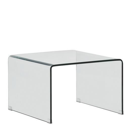 COUCHTISCH rechteckig Transparent - Transparent, Design, Glas (60/60/40cm) - Novel