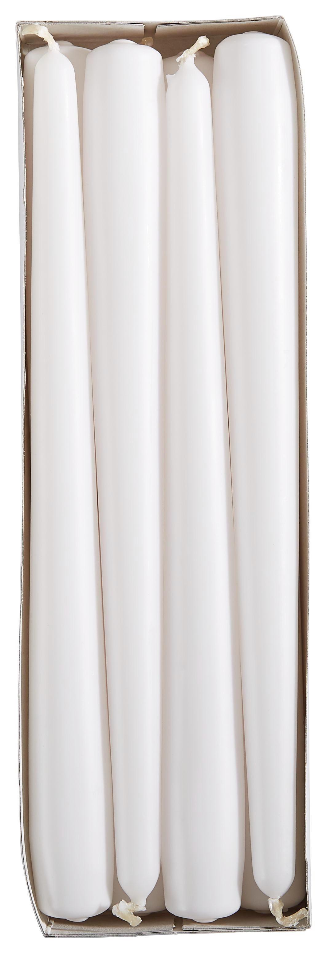 STABKERZENSET - Weiß, Basics (2,35/24,5cm)