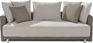 SCHLAFSOFA in Beige, Braun Textil - Chromfarben/Beige, KONVENTIONELL, Kunststoff/Textil (220/64/110cm) - Xora