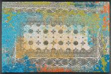 FUßMATTE 50/75 cm Graphik Blau, Hellgrau, Multicolor - Blau/Multicolor, Basics, Kunststoff/Textil (50/75cm) - Esposa