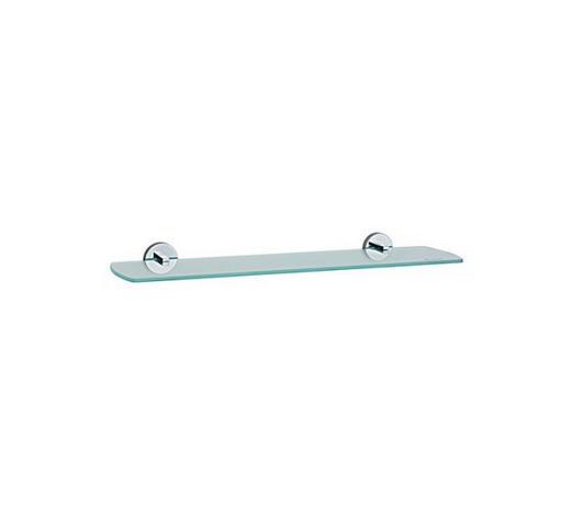 BADEZIMMERKONSOLE 60/5,5/12 cm  - Chromfarben, Basics, Glas/Metall (60/5,5/12cm)