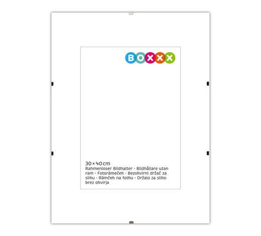 KLIPOVÝ RÁMEČEK, 40/30/1 cm, čiré - čiré, Basics, sklo (40/30/1cm) - Boxxx