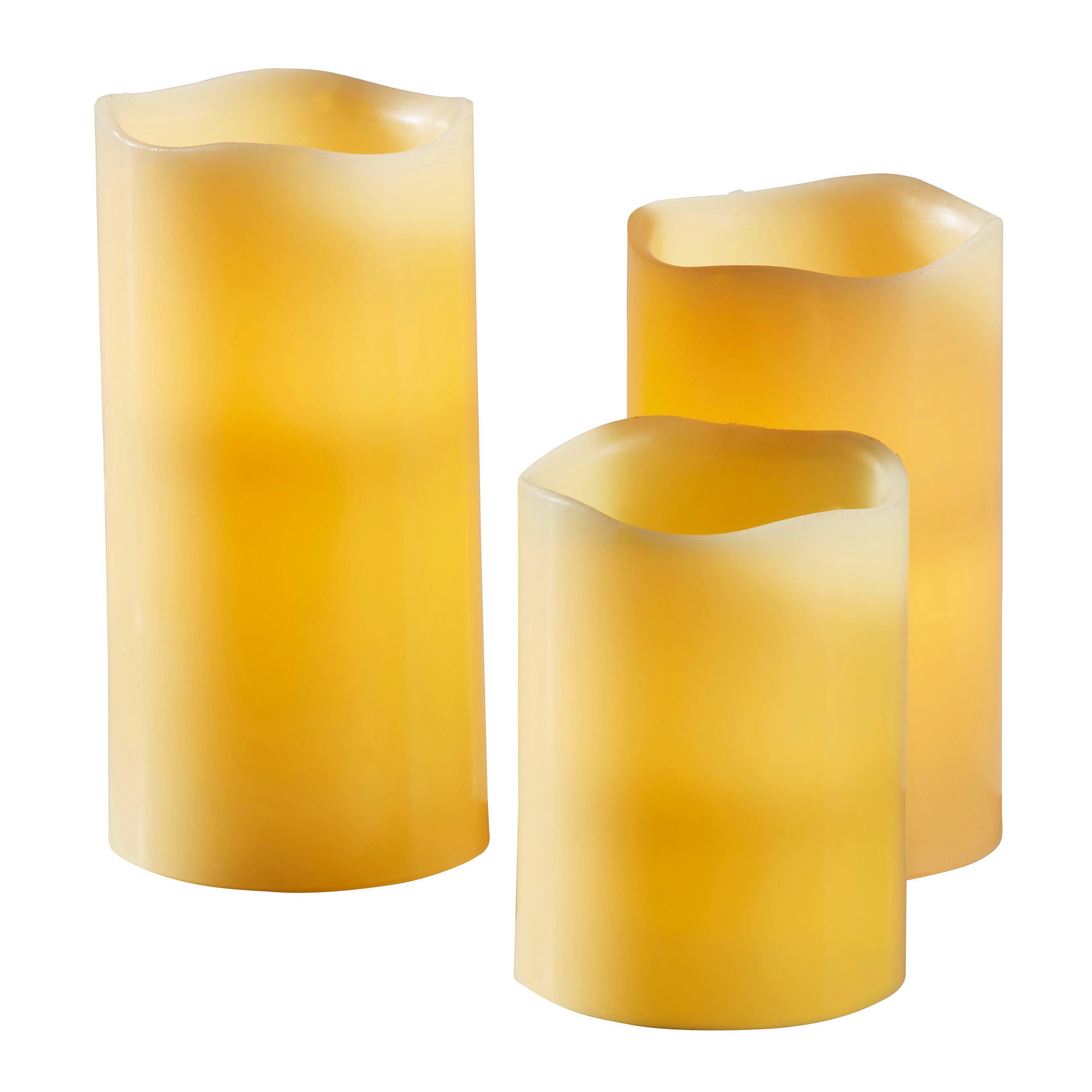 LED-Kerzen Set 3-teilig - Creme, Basics