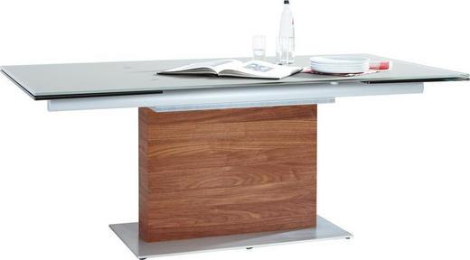 ESSTISCH Nussbaum furniert rechteckig Nussbaumfarben, Taupe - Taupe/Nussbaumfarben, Design, Glas/Holz (190(290)/100/75cm) - Venjakob
