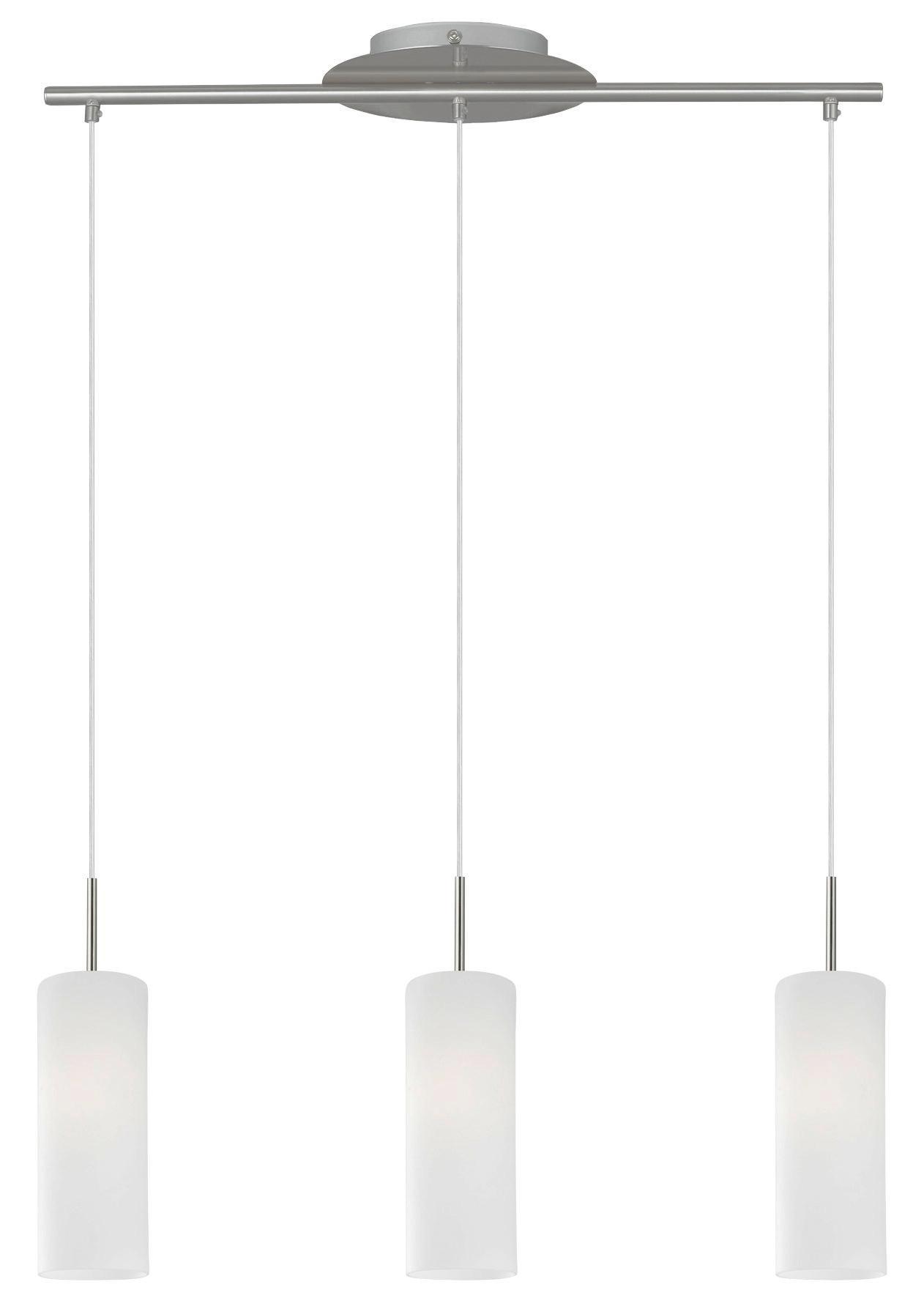 HÄNGELEUCHTE - Nickelfarben, KONVENTIONELL, Glas/Metall (72/110cm)