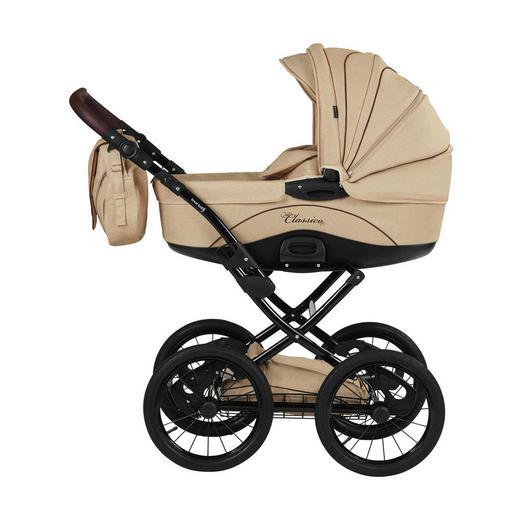 Classico  Knorr-Baby Kinderwagenset  Creme - Creme/Schwarz, Basics, Textil/Metall (110/60/107cm)