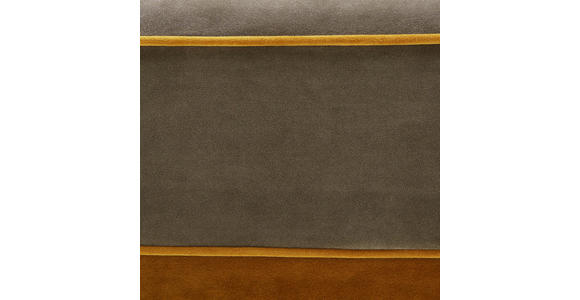 OHRENSESSEL in Textil Currygelb, Dunkelgrün - Currygelb/Dunkelgrün, ROMANTIK / LANDHAUS, Kunststoff/Textil (126/112/140cm) - Hom`in