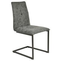 SCHWINGSTUHL in Metall, Textil Schwarz, Greige - Greige/Schwarz, Design, Textil/Metall (48/90/57cm) - Hom`in