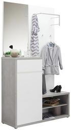 PREDSOBA bela, siva - siva/bela, Design, leseni material (117/199/40cm) - Voleo