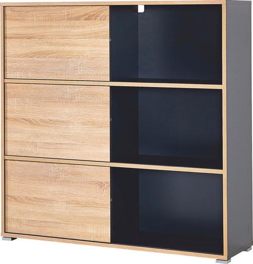 REGAL Anthrazit, Sonoma Eiche - Anthrazit/Sonoma Eiche, Design, Holzwerkstoff (120/119/35cm) - Carryhome