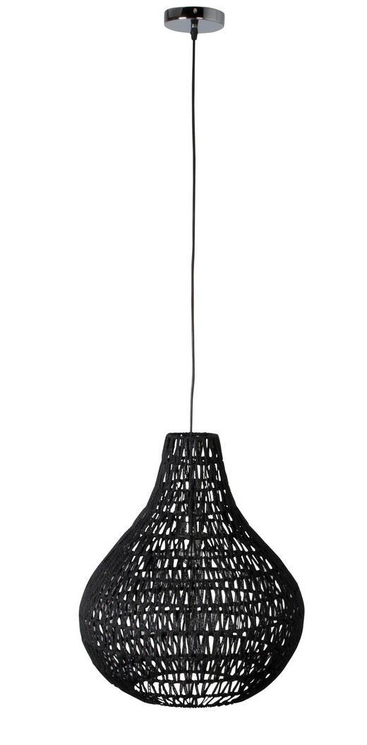 HÄNGELEUCHTE - Schwarz, KONVENTIONELL, Metall (45/181cm)
