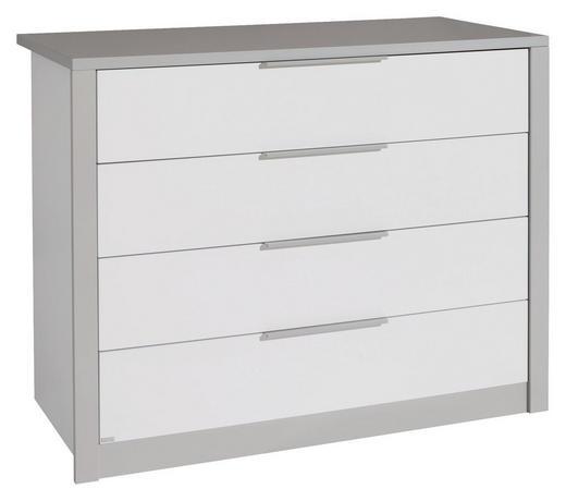 KOMMODE Grau, Weiß - Silberfarben/Weiß, Design, Metall (117,3/90,8/56,2cm) - Paidi