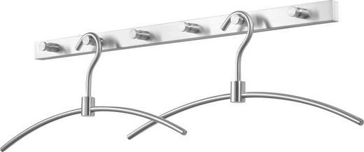 GARDEROBENLEISTE Edelstahlfarben - Edelstahlfarben, Design, Metall (60cm)