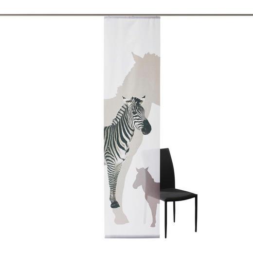 FLÄCHENVORHANG   blickdicht   60/245 cm - Weiß/Grau, Basics, Textil (60/245cm) - NOVEL