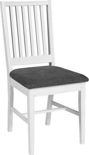 STOL - vit/grå, Lifestyle, träbaserade material/textil - Rowico
