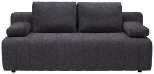 SCHLAFSOFA in Textil Dunkelgrau  - Dunkelgrau/Schwarz, MODERN, Kunststoff/Textil (198/87/92cm) - Xora