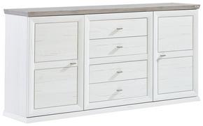 SIDEBOARD - vit/nickelfärgad, Lifestyle, metall/träbaserade material (180/89/43cm) - Hom`in