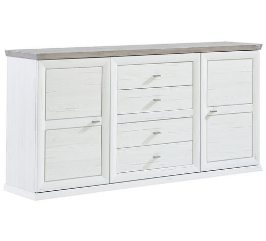 SIDEBOARD Grau, Weiß