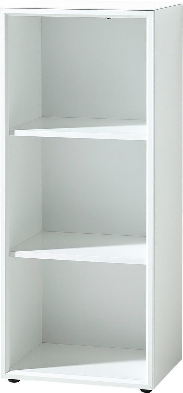 AKTENREGAL Weiß - Weiß, MODERN, Glas/Holzwerkstoff (50/120/37cm)