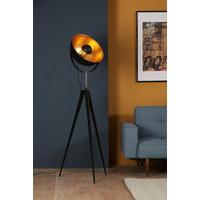 STOJACÍ LAMPA - černá/barvy zlata, Trend, kov (40/168cm)