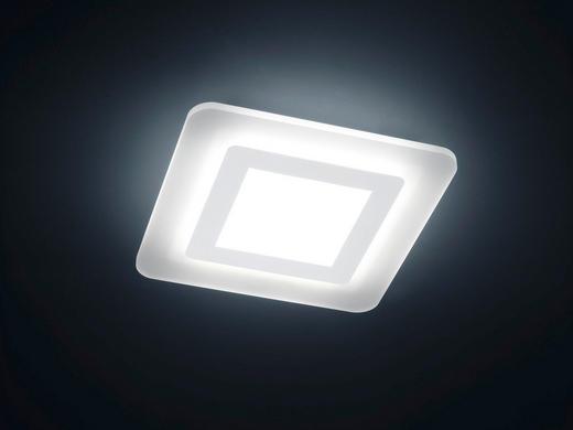 LED-DECKENLEUCHTE - Weiß, LIFESTYLE, Metall (45/45/7cm)