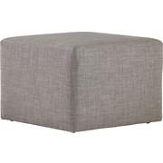 HOCKER in Textil Grau - Grau, Design, Kunststoff/Textil (60/40/60cm) - Joka