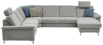 WOHNLANDSCHAFT in Textil Silberfarben  - Silberfarben/Alufarben, Design, Textil/Metall (265/333/170cm) - Dieter Knoll
