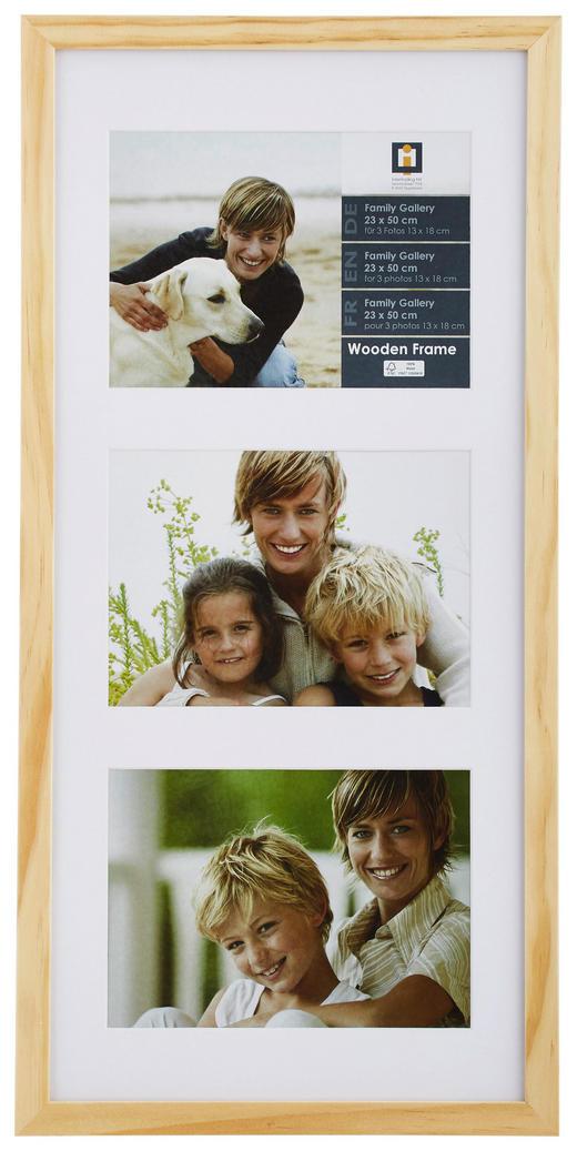 RAHMEN  Naturfarben - Naturfarben, Basics, Glas/Holz (23/50/3cm)