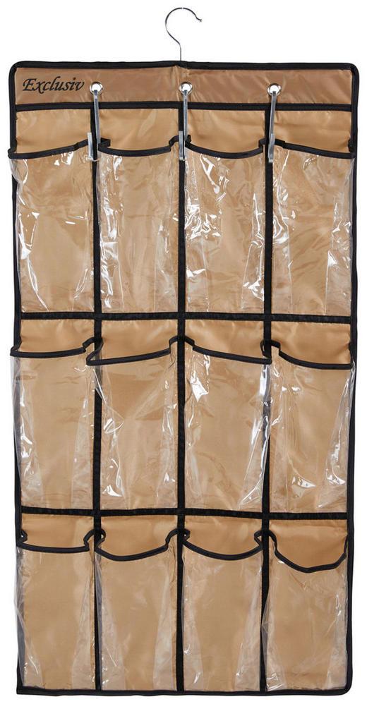 HÄNGEORGANIZER - Goldfarben/Braun, Basics, Kunststoff (45/84cm)