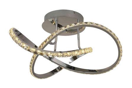 LED-TAKLAMPA - kromfärg, Design, metall/glas (55/28,5cm)